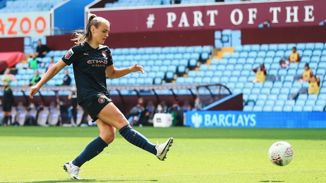 OFF THE MARK: A Georgia Stanway brace sees City off to a winning start in the WSL, beating Aston Villa 2-0