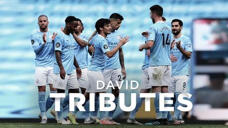 Los tributos de los jugadores a David Silva