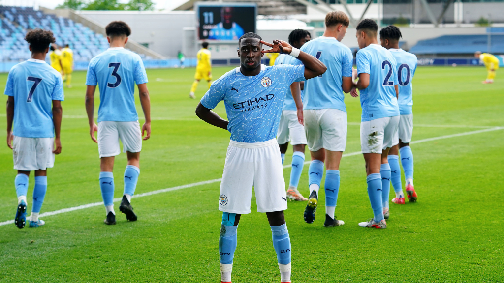 CELEBRATION TIME: For Carlos Borges and City's Under-18s