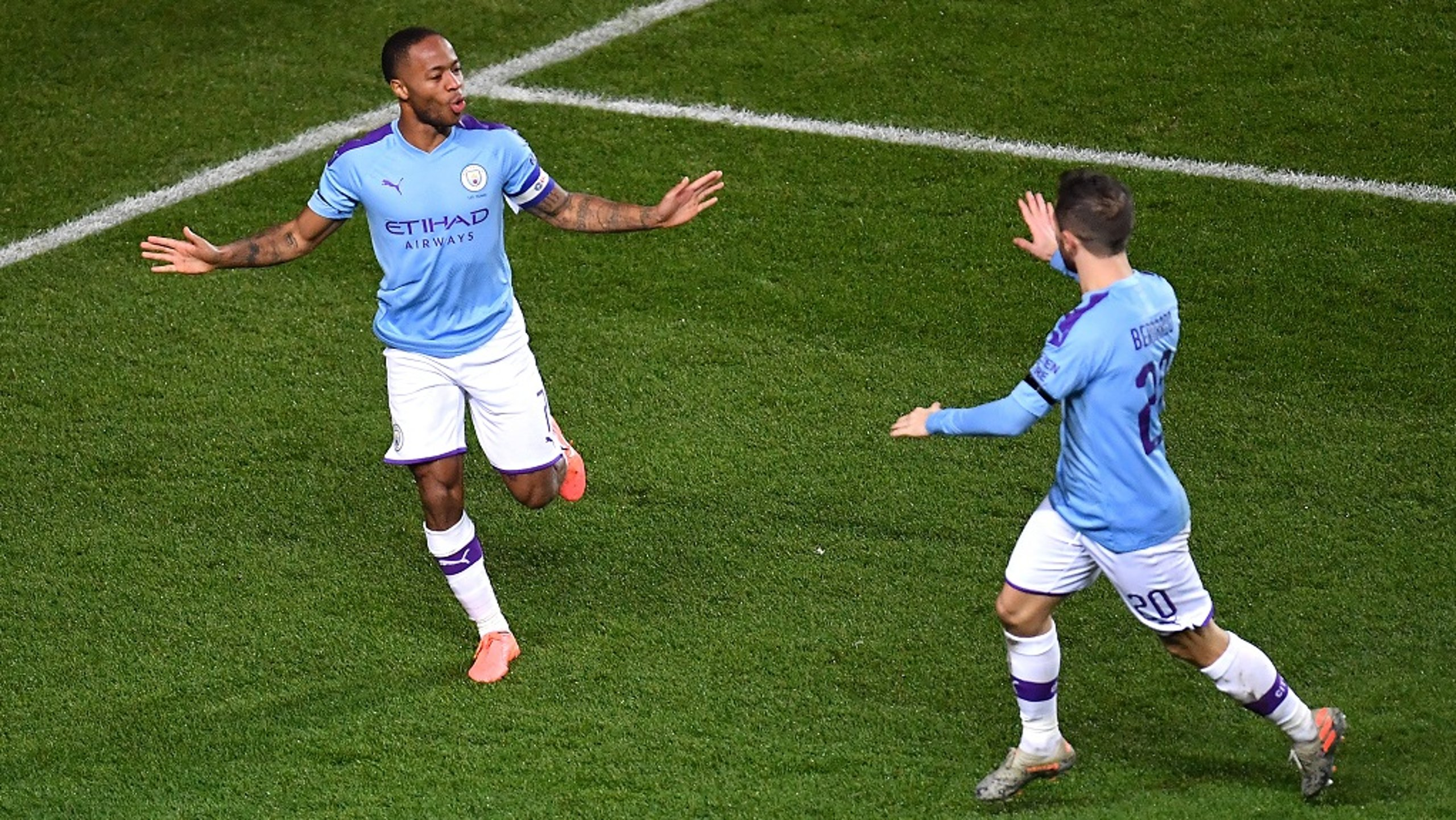RAPID RESPONSE: Raheem Sterling turns in Angelino's cross