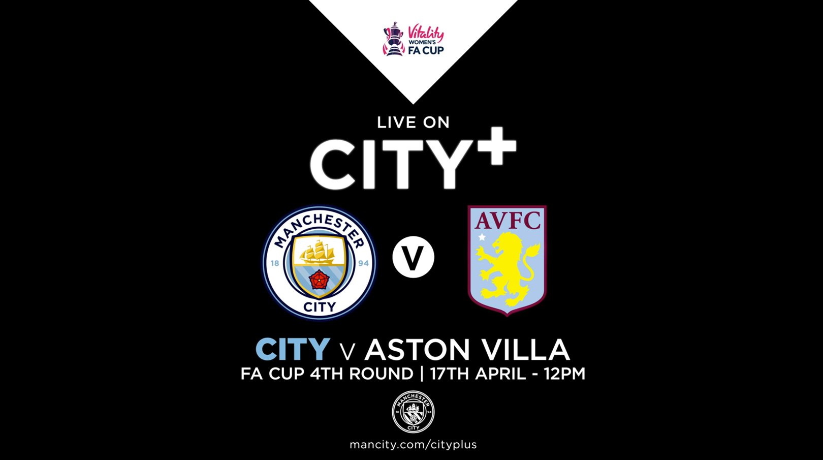 Watch City v Aston Villa in the FA Women's Cup live on CITY+
