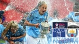 CHAMPAGNE SUPERNOVA: Steph Houghton wasn't ready for that!