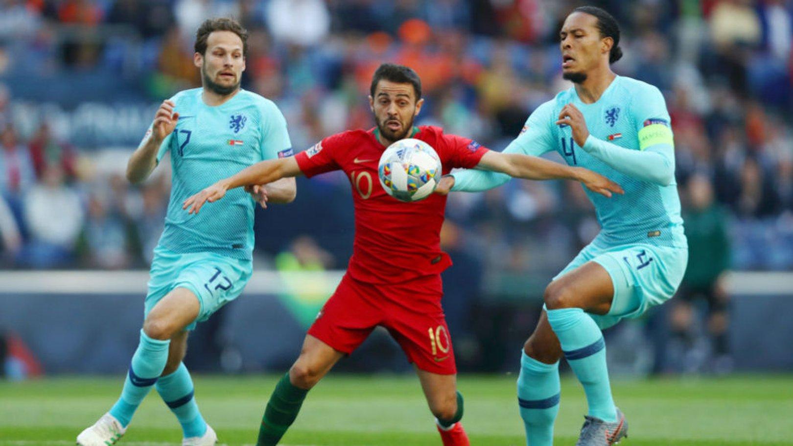 WINNER: Bernardo's trophy-laden season continued tonight in Porto