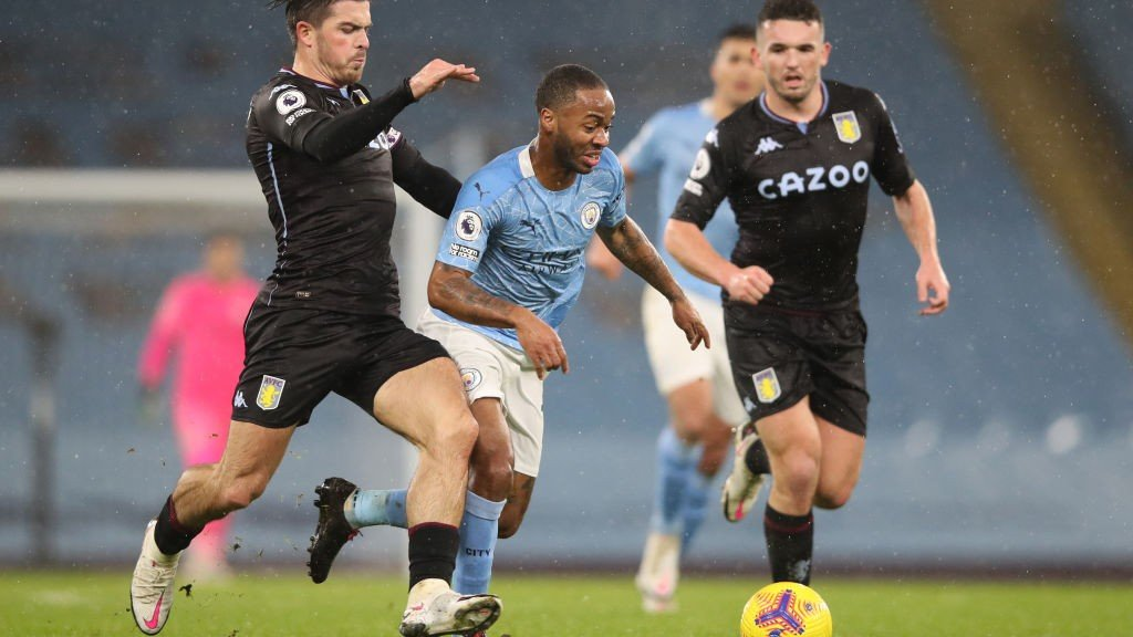 RAZZLE DAZZLE: Raheem Sterling tries to force an opening