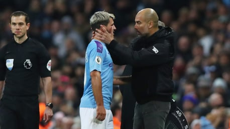 ENFORCED CHANGE: Sergio Aguero was substituted in the win over Chelsea