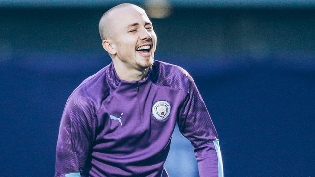 PEARLY WHITES : Angelino shows off his cheesy grin