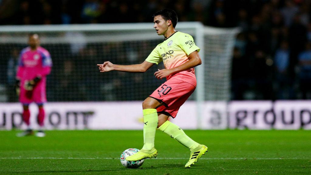 FANTASTIC ERIC : Teenage defender Eric Garcia brings the ball under control