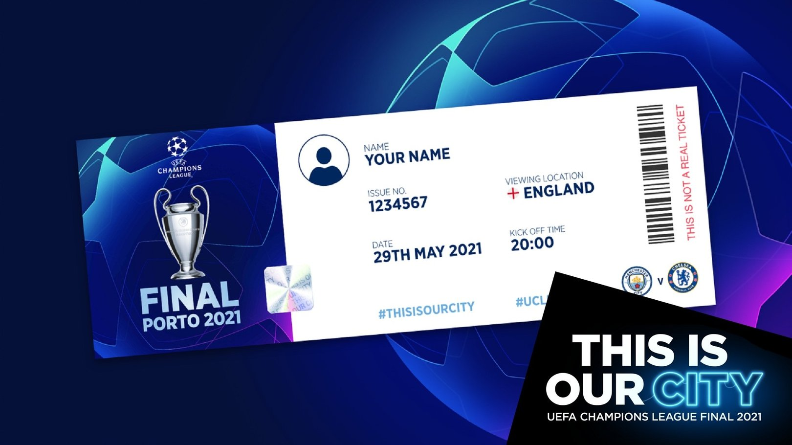 Réclamez votre billet virtuel commémoratif pour la finale de la Ligue des champions !