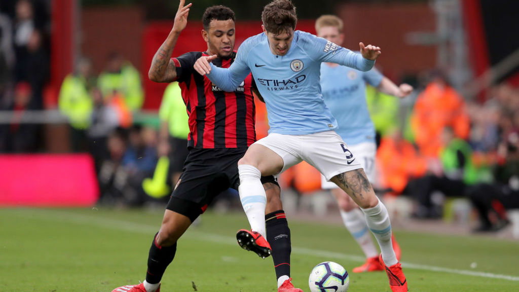 SOLID AS A ROCK : John Stones brushes off Josh King