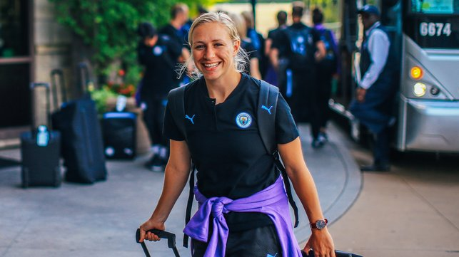 BUZZING BREMER : A buoyant Pauline Bremer, having put her injury woes behind her