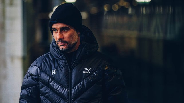 WRAPPED UP : Pep heads out for a chilly training session.