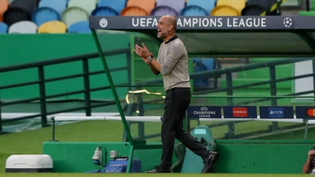 PEP UP: The boss offers encouragement from the touchline