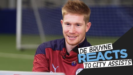 Kevin De Bruyne reacts to City assists