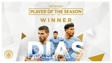 Dias named Etihad Player of the Season
