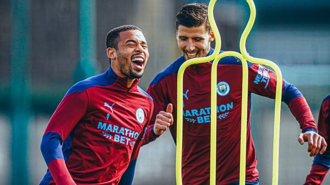GAB GRIN: Something's tickled our Brazilian forward!