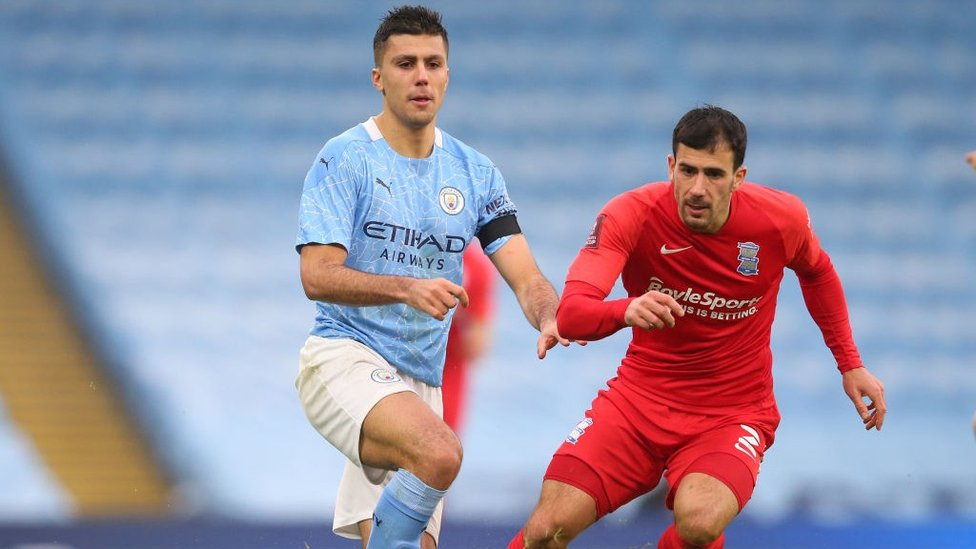 CONTROLLING : City looked comfortable throughout against the Championship outfit.