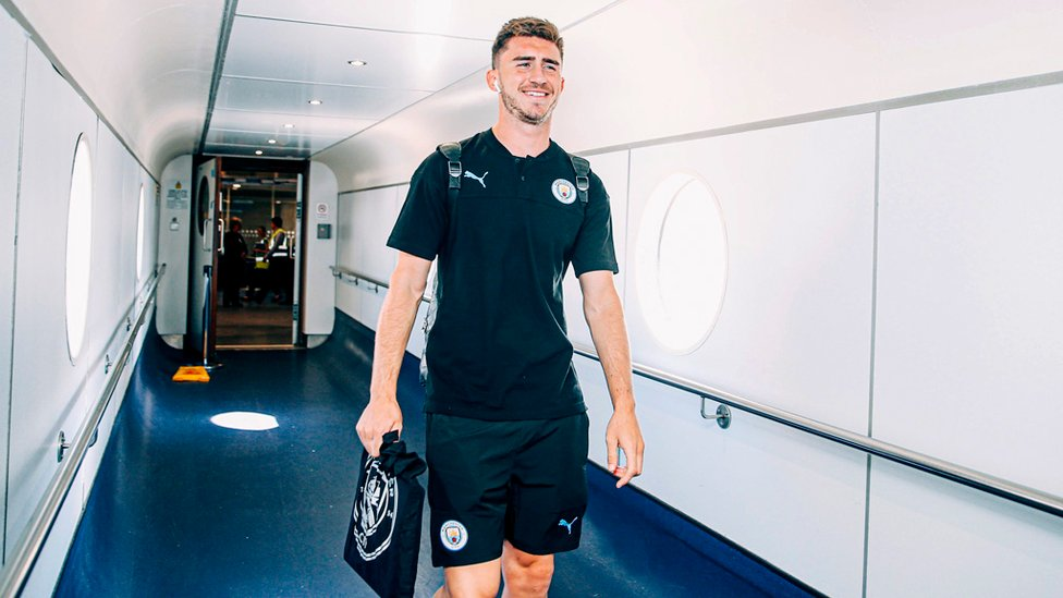 YOU'LL BE MY AYMERIC LAPORTE : The French centre-half looks relaxed. Let's hope he picks up where he left off last season!