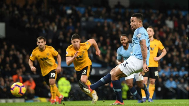 CAN'T STOP, WON'T STOP : Gabriel Jesus finds the back of the net.... again