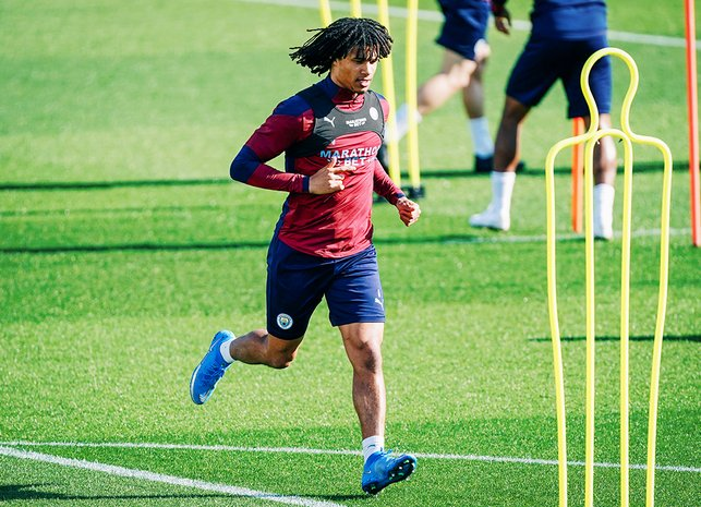 CENTRE OF ATTENTION: Nathan Ake goes through a fitness drill