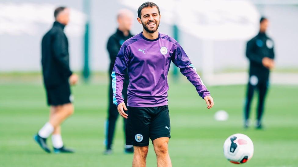 MAGIC MAN : Bernardo Silva was enjoying himself.