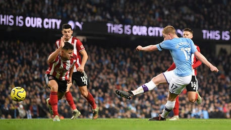 GAME, SET, MATCH: Kevin De Bruyne doubles our lead late on