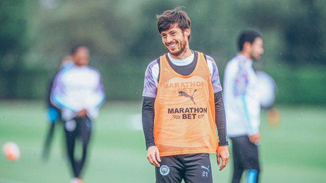 MAGIC MAN: David Silva was in relaxed mood as the resumption of action draws nearer