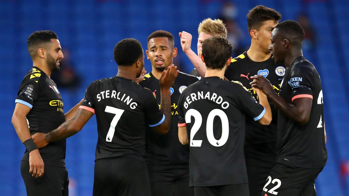 Classic highlights: Hat-trick for Sterling as City bag five at Brighton