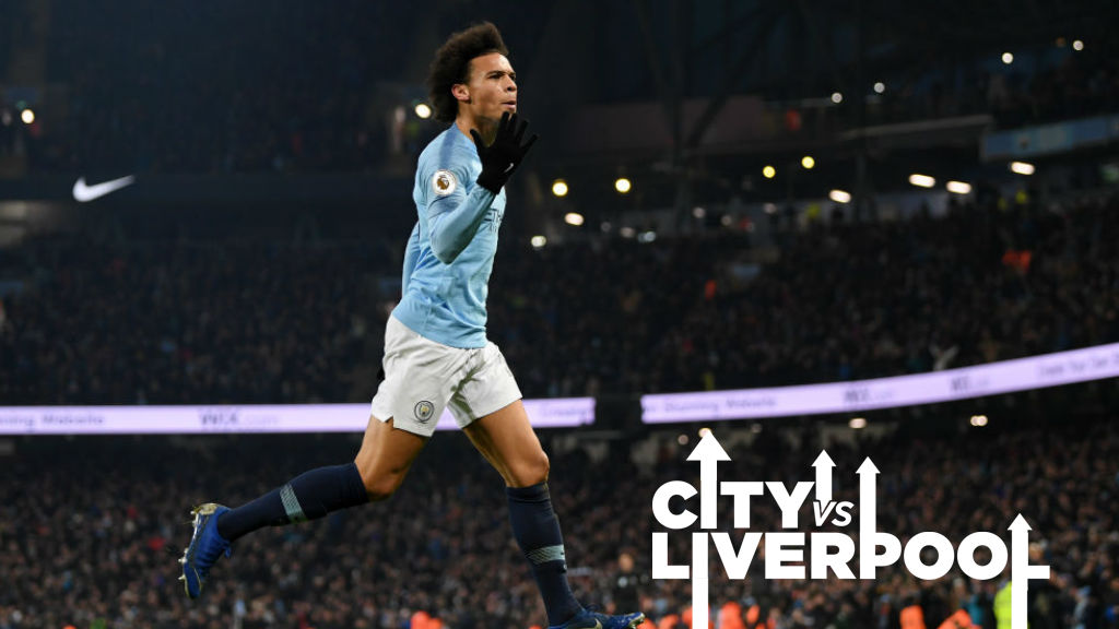 MOMENT TO SAVOUR : Leroy Sane celebrates his stunning winner over Liverpool