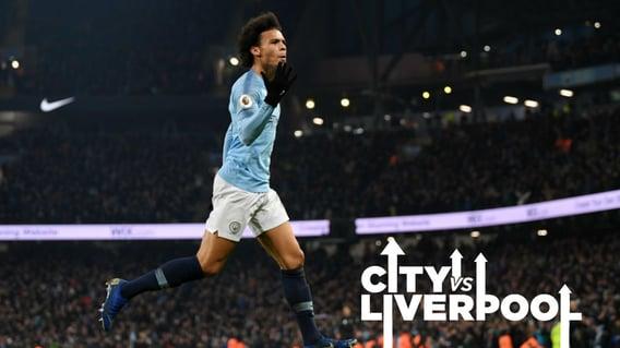 MOMENT TO SAVOUR: Leroy Sane celebrates his stunning winner over Liverpool