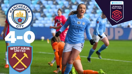 FA WSL highlights: City 4-0 West Ham United