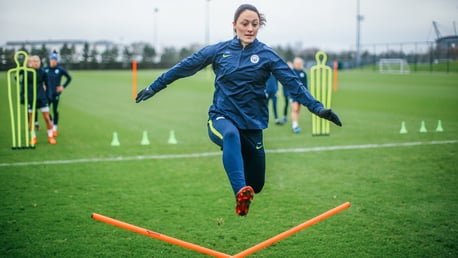 LEAPING INTO ACTION LIKE... Megan Campbell!