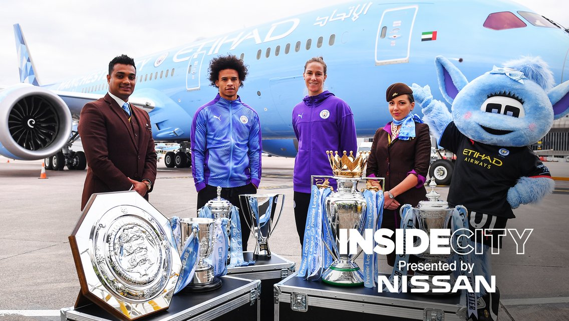 TAKING OFF: Inside City headed to Manchester Airport this week.