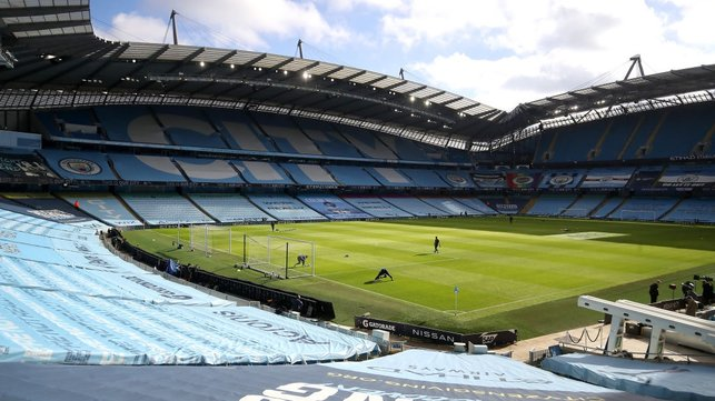 HOME : The sun shines on the Etihad ahead of the visit of West Ham.