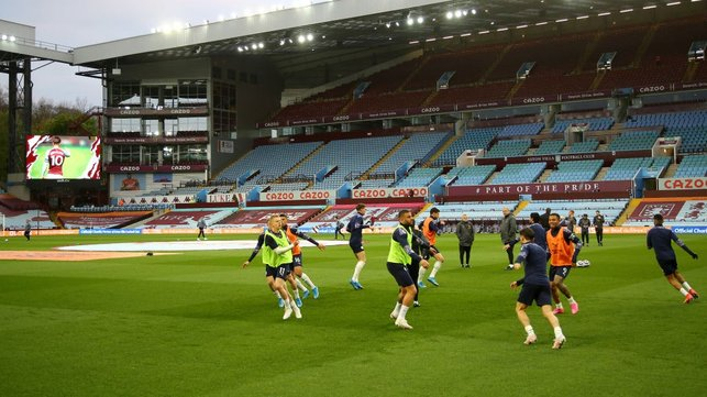 AWAY DAYS : The lads getiting ready to go at Villa Park.
