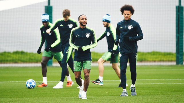 WING COMMAND : Raheem Sterling and Leroy Sane limber up