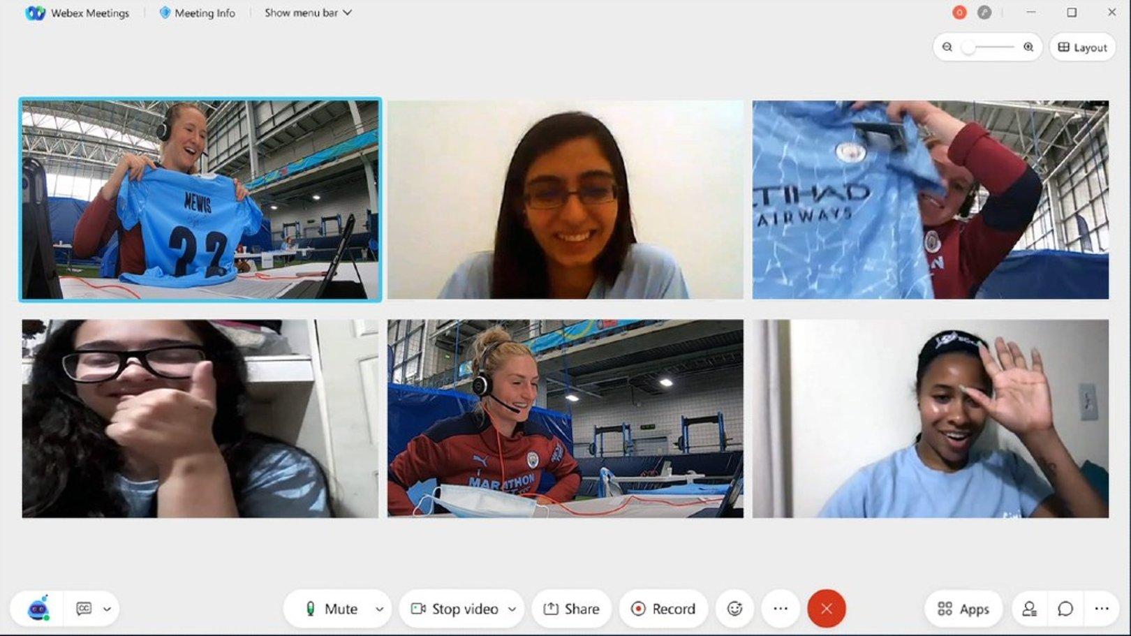 Para Young Leader Terhubung Dengan Bintang City Melalui Webex by Cisco