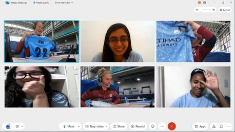 Young Leaders connect with City players over Webex by Cisco