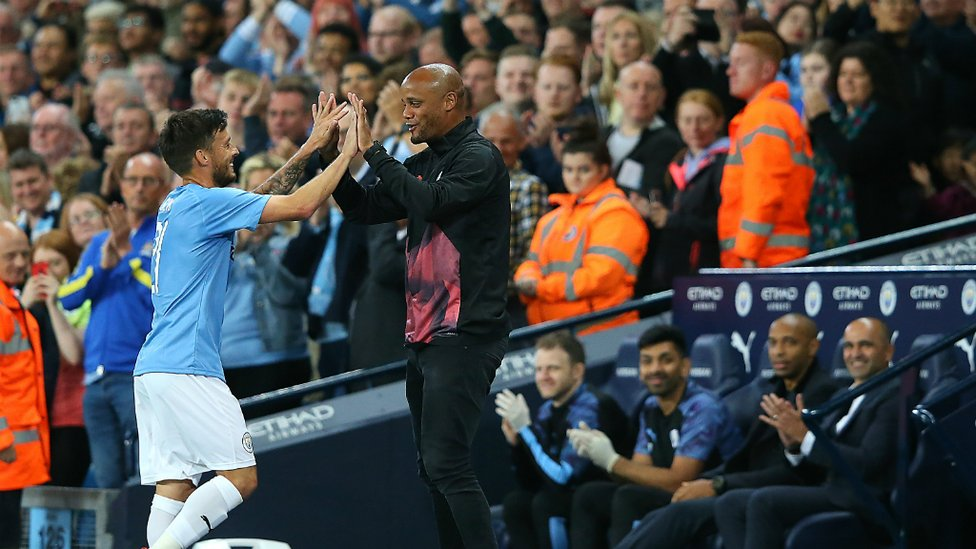 JOB DONE : David Silva departs early with Saturday's Premier League fixture in mind