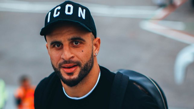 MAN OF THE MOMENT : Kyle Walker was in upbeat mood following his last-gasp heroics against Southampton at the weekend