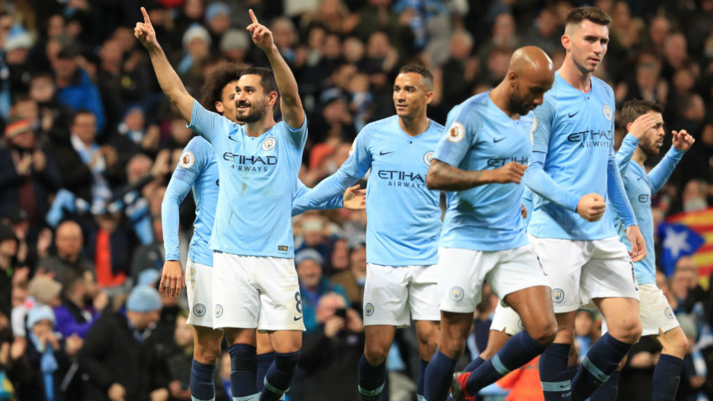 THREE AND (NOT THAT) EASY : Gundogan produced a fine finish for City's third