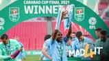 CAPTAIN FANTASTIC: Fernandinho lifts the trophy!