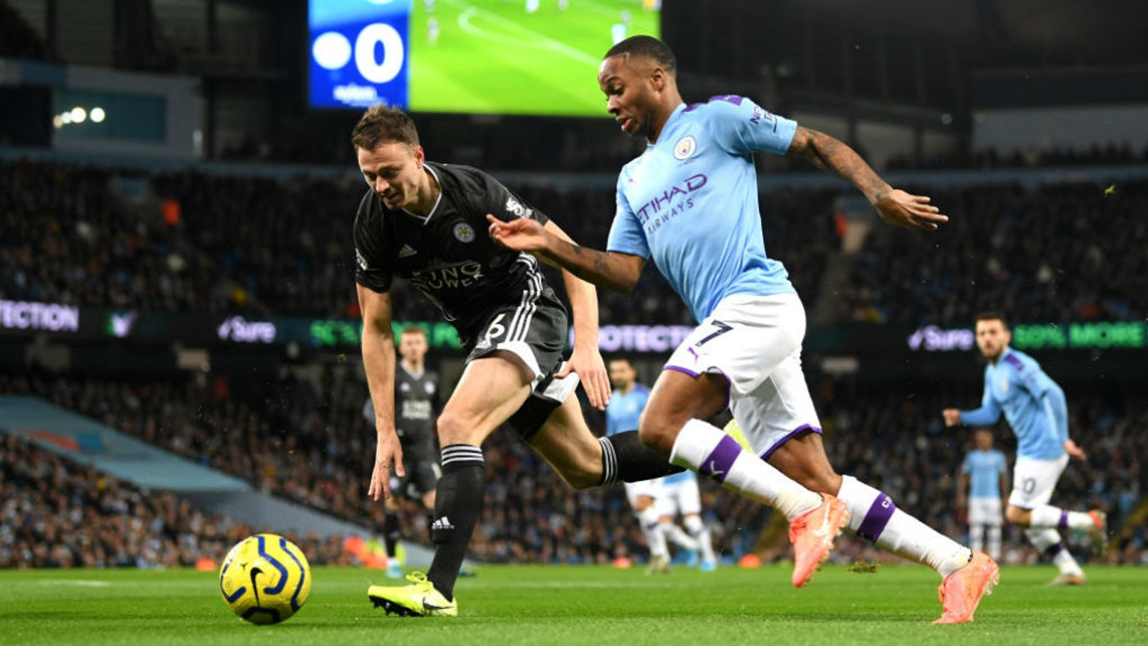 DANGERMAN: Sterling looks to get through on goal early on.