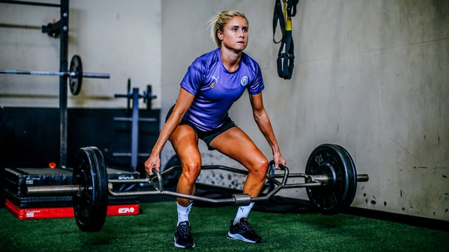 LEAD BY EXAMPLE : Strength and conditioning for skipper Steph Houghton