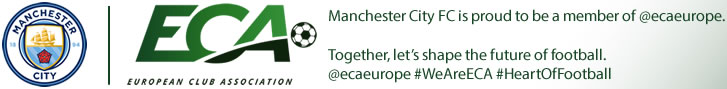 Manchester City FC is proud to be a member of @ecaeurope. #WeAreECA and we safeguard, strengthen and shape European club football. We are the #HeartOfFootball.