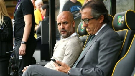 PRE-MATCH: The boss waiting for kick off