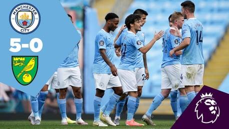 City 5-0 Norwich: Ulangan Penuh Pertandingan