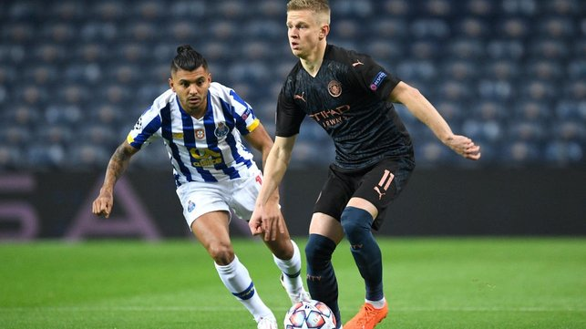 FORWARD THINKING: Oleksandr Zinchenko brings the ball out from the back