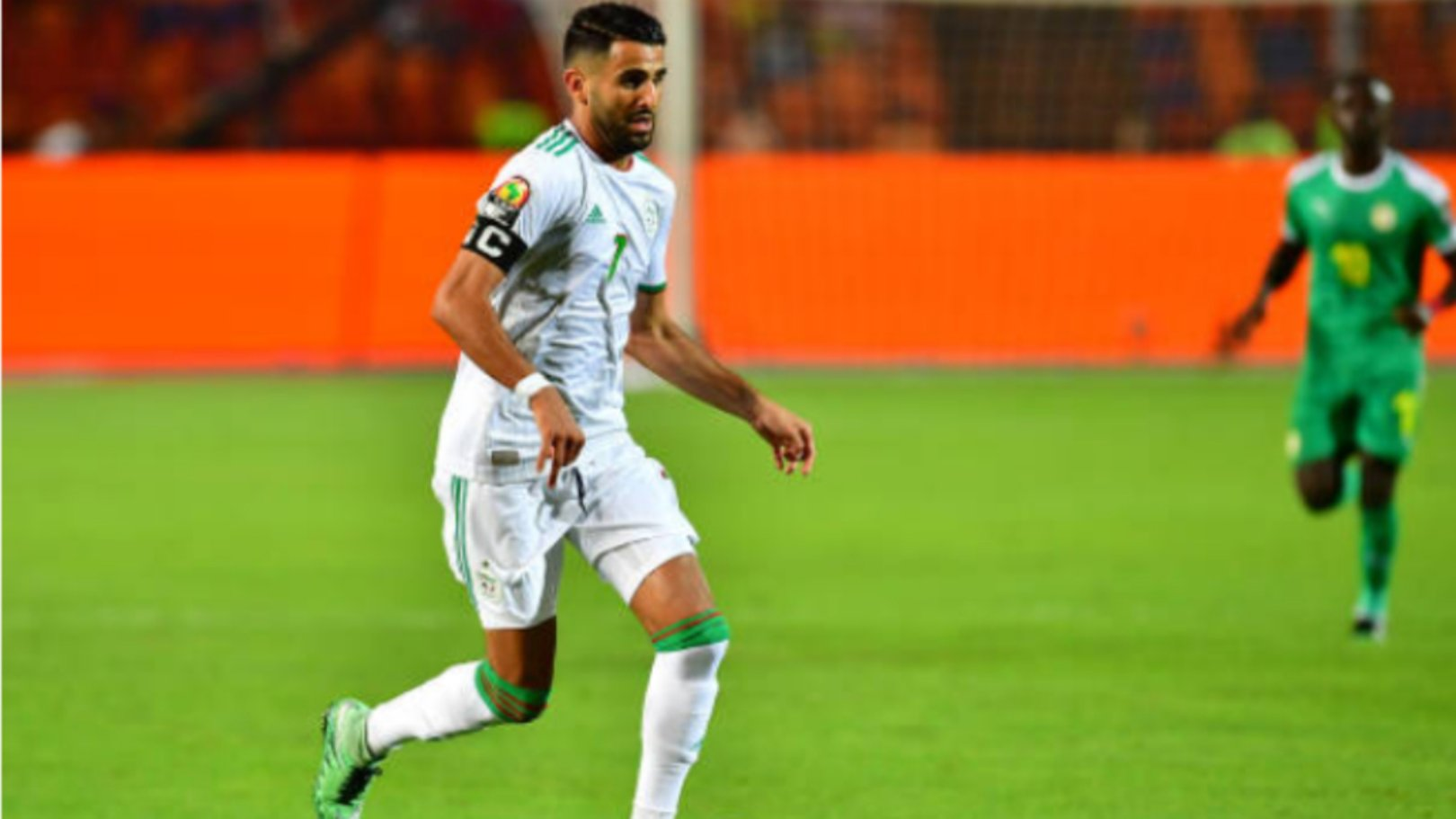 CHAMPION: Riyad Mahrez lifted the African Cup of Nations with Algeria.