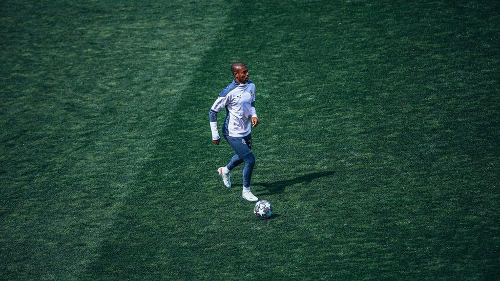 CAPTAIN FANTASTIC : Fernandinho pictured with defensive midfielders better than him.
