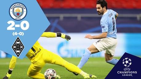 City 2-0 Borussia Monchengladbach: Full-match replay